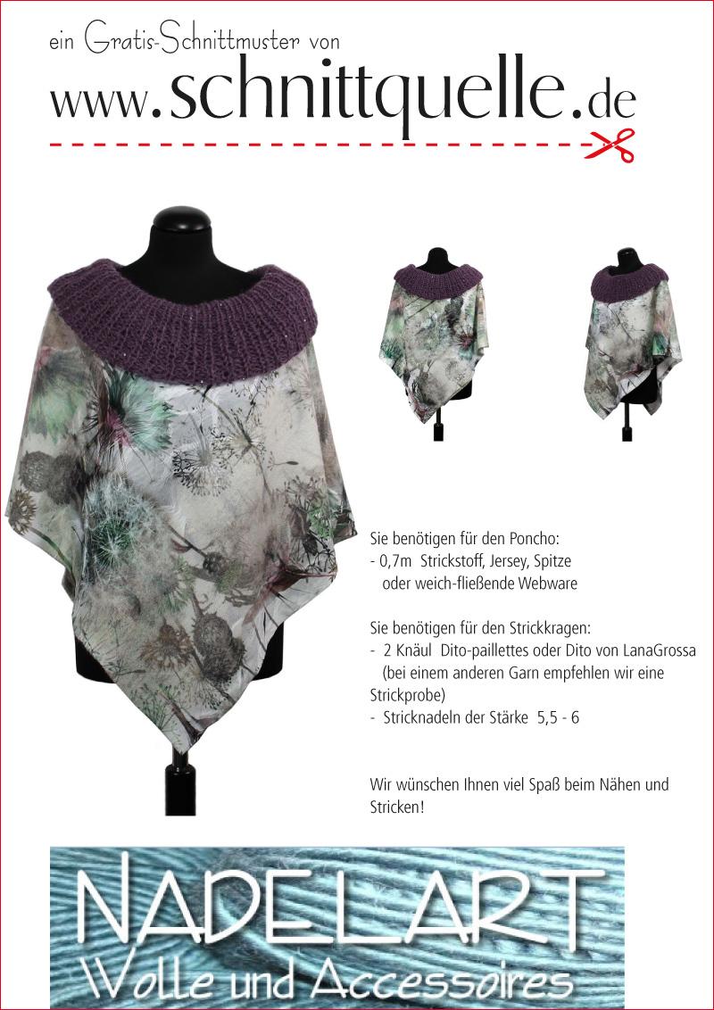 Schnittquelle Schnittmuster Shop - Free pattern poncho