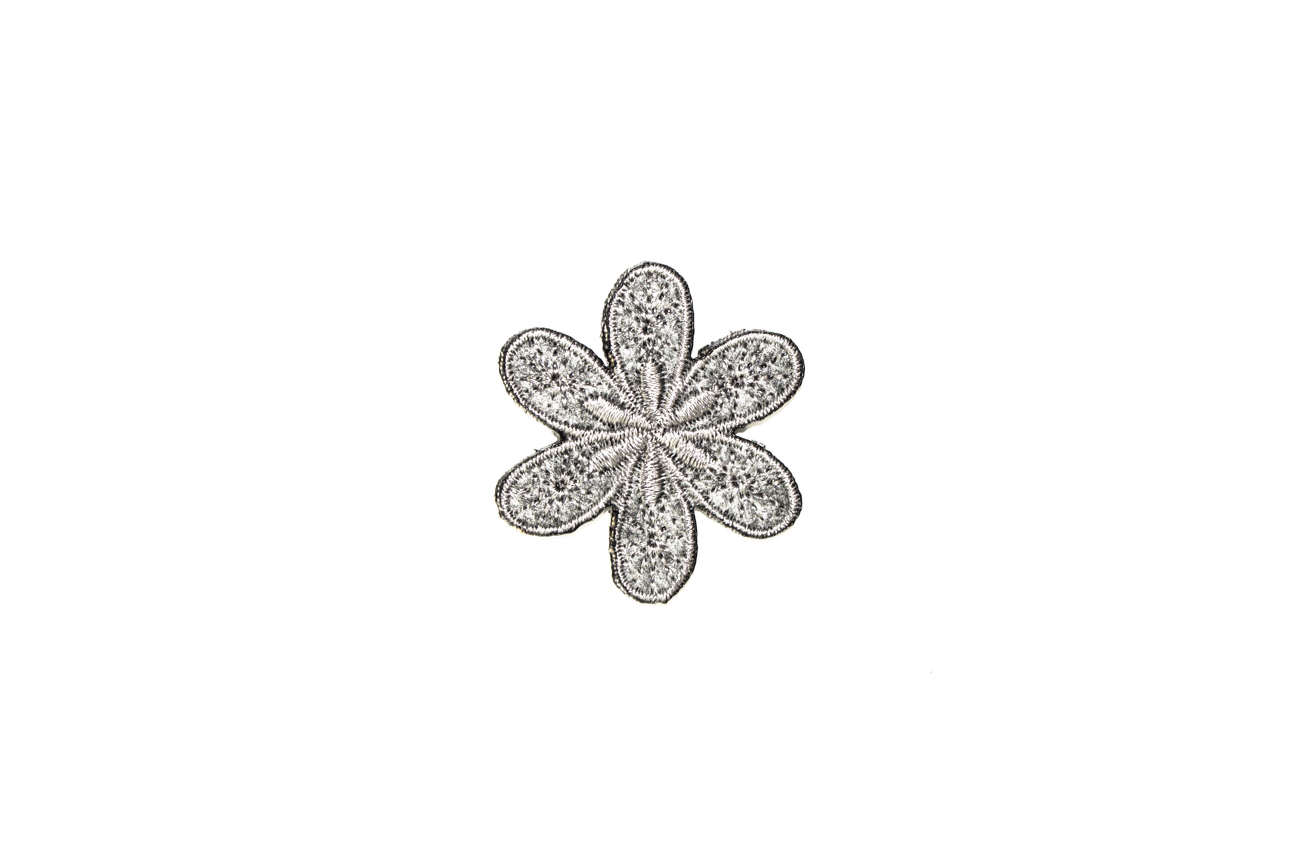 Schnittquelle Schnittmuster Shop - Applikation Blume Silber