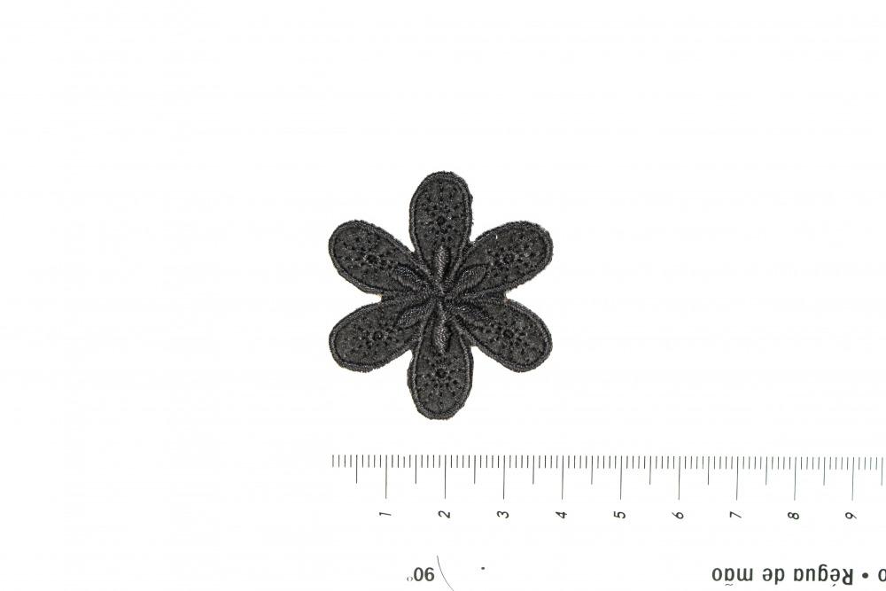 Schnittquelle Schnittmuster Shop - Applikation Blume Schwarz